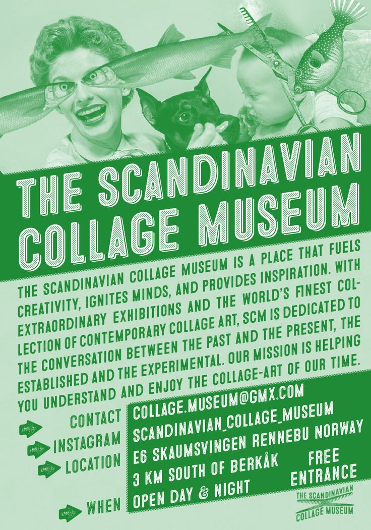 flyer for The Scandinavian Collage Museum #norway #collage