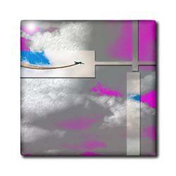 "An Airplane Flying Through the Sky Done in Pink and Blue Layered Metals - 12 Inch Ceramic Tile by Jodie Fauxtographee. $22.99. Construction grade. Floor installation not recommended.. Dimensions: 12"" H x 12"" W x 1/4"" D. High gloss finish. Clean with mild detergent. Image applied to the top surface. An Airplane Flying Through the Sky Done in Pink and Blue Layered Metals Tile is great for a backsplash, countertop or as an accent. This commercial quality construction grade tile has..."