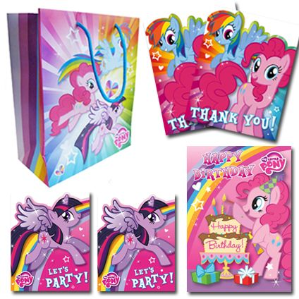 My Little Pony Official Birthday BUMPER Pack Includes; 1 x Birthday Card, 1 x Medium sized gift bag, 2 x Pack of 10 Party Invitations, 2 x Pack of 10 Thank You Cards. Only £12 and FREE UK Delivery. Take a closer look now at https://www.danilo.com/Shop/Cards-and-Wrap/Birthday-Packs/My-Little-Pony-Birthday-Bumper-Pack