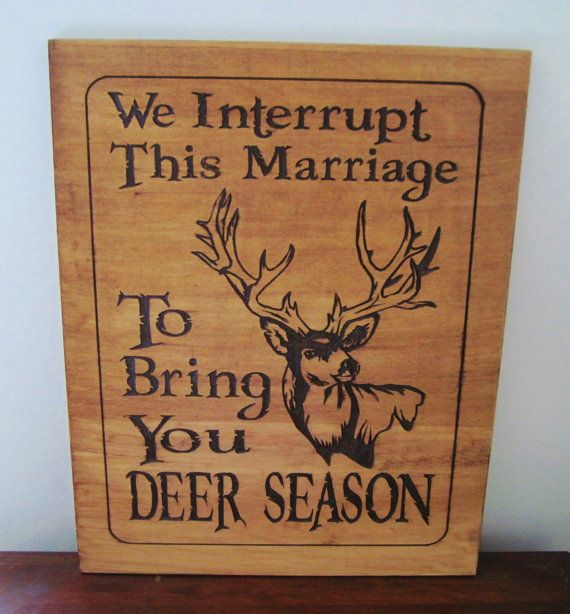 Rustic Wood Carved Deer Hunting Season Sign - Great For The Man Cave, Cottage, Lodge, Etc-MADE to ORDER on Etsy, $41.00