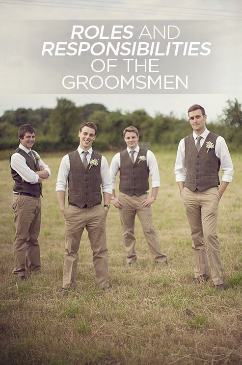 What are your groomsmen responsible for? Read this article to find out: http://www.colincowieweddings.com/articles/wedding-basics-etiquette/roles-and-responsibilities-of-the-groomsmen/all