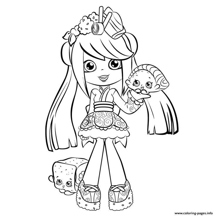 Shopkins girl shoppie say hi coloring pages printable and coloring book to print for free find more coloring pages online for kids and adults of shopkins
