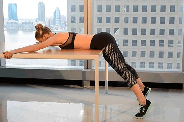 Raise and tone your booty with the Bent-Over Leg Extension