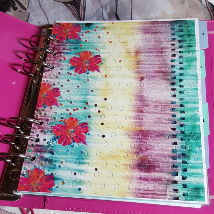 Bright & stripey A5 Planner Dashboard Ready to go by CarolFleetDesigns on Etsy