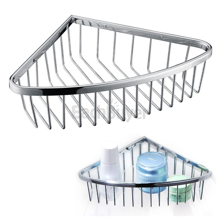Brass Chrome Corner Shower Caddy Storage Shelf Basket Bathroom Accessories