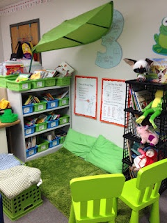 I love the idea of having a classroom reading center that has