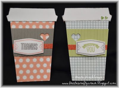 Coffee Cup cards made with #ctmh #artistry #cricut and Framed - August Stamp of the Month.  Available now - www.kristah.ctmh.com
