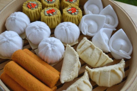 Felt Food Dim Sum Lunch by FiddledeeDeeCraft on Etsy
