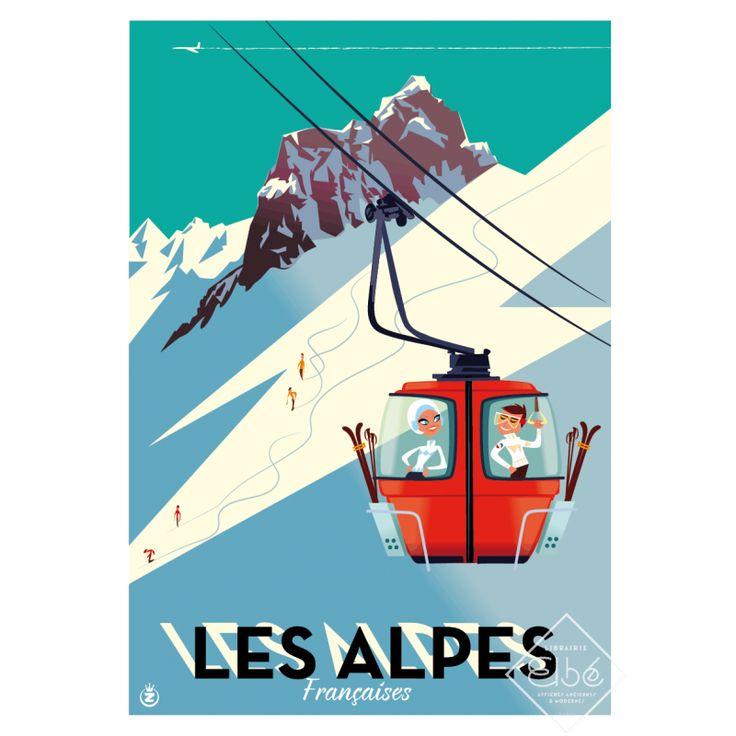 Sérigraphie de Monsieur Z, Mont-Blanc la Vallée Blanche, 2014.