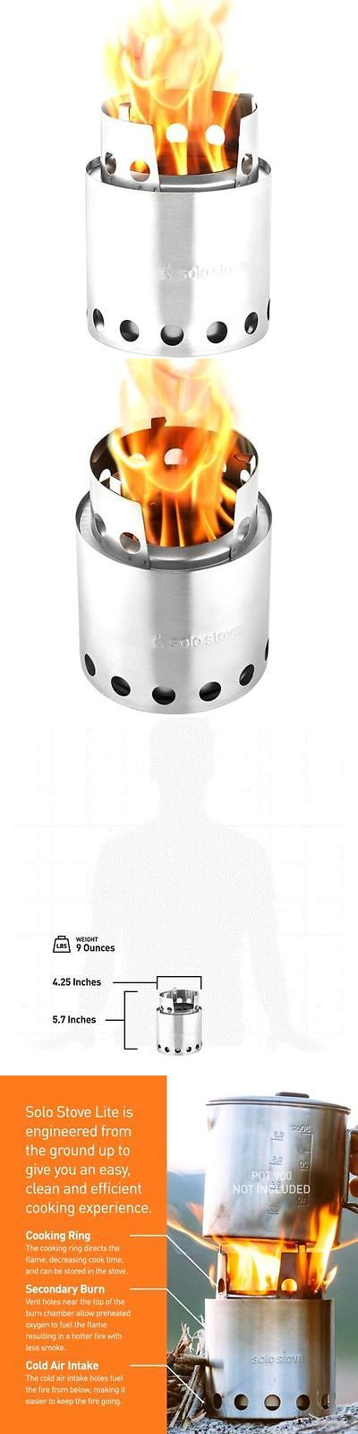 Camping Stoves 181386: Portable Compact Wood Burning Backpacking Hiking Solo Stove Outdoor Camping BUY IT NOW ONLY: $97.42
