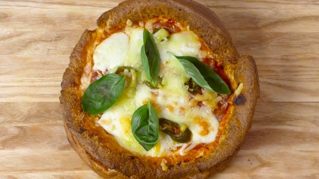 Yorkshire pudding pizza