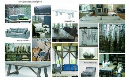 Moodboard modern industrieel. www.pieterszevenbergen.nl