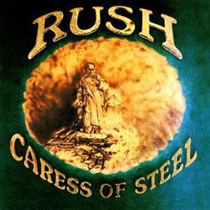 """Rush, Caress of Steel**** (1975): I've seen the wonderful documentary on Rush, and it seems that everyone wondered what the hell was going on when this album was released. """"The Fountain of Lamneth,"""" what the hell is that? A full album side of fucking great is what it is. Though it doesn't fully succeed at all times, this is one hell of a statement of directionality for the band which would be solidified on their next album. 4/17/14)"""