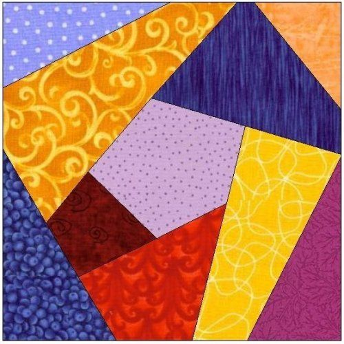 Free Printable Crazy Quilt Patterns | ALL STITCHES - CRAZY QUILT PAPER PIECING QUILT BLOCK PATTERN .PDF-077A ...
