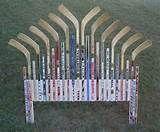 Custom Hockey Stick Furniture - Hockey Stick Headboard