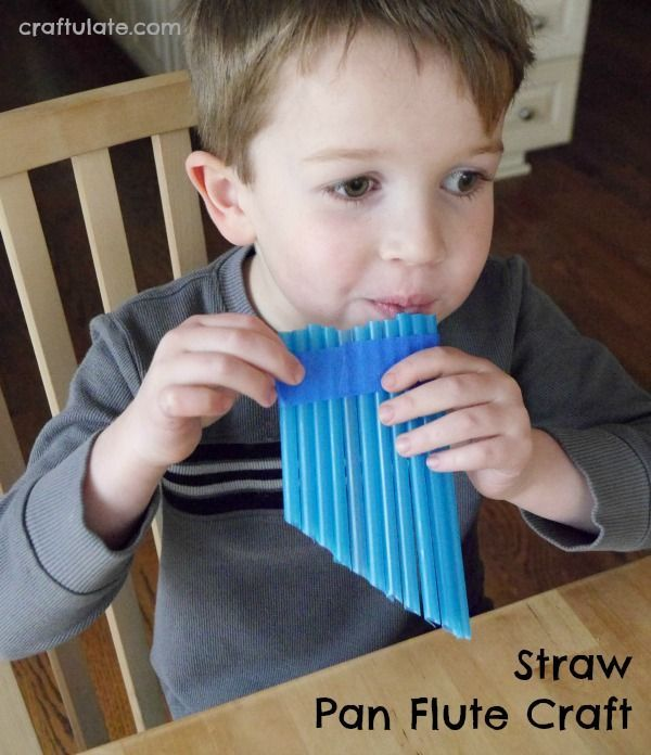 Straw Pan Flute Craft - an easy craft that kids can make on their own!