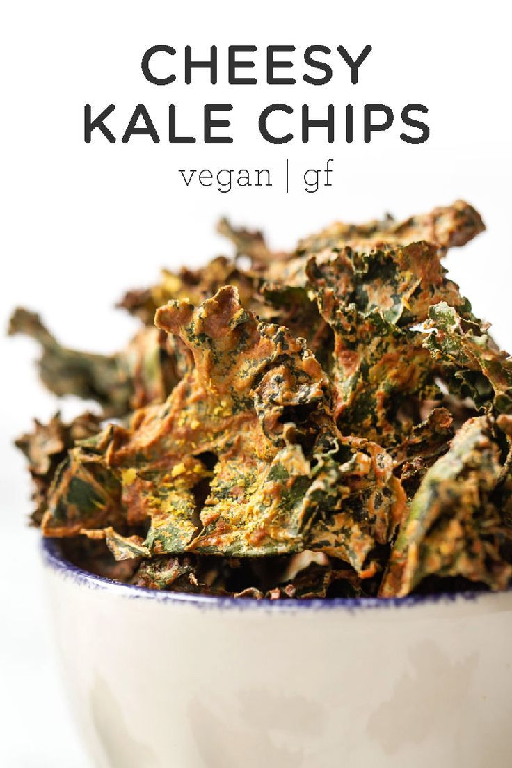 How To Make Cheesy Kale Chips Vegan Gluten Free Simply Quinoa Recipe Cheesy Kale Chips Kale Chip Recipes Healthy Vegan Snacks