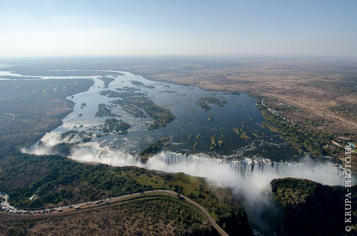 "Victoria falls in Zimbabwe and Zambia(from <a href=""http://www.krupa-photo.fr/piwigo/picture.php?/15024/category/498"">Krupa photographies - Galeries</a>) #aérien #Africa #Africain #African #Afrique #Afrique australe #cataracte #Chutes Victoria #Fleuve #Helicopter #hélicoptère #Livingstone #Mosi-oa-Tunya #Mosi-oa-Tunya National Park #Nature #Southern Africa #survol #UNESCO #VictoriaFalls National Park #vol #vue du ciel #Wester Ross #Zambèze #Zambezi River #Zambia #Zambie #Zimbabwe"