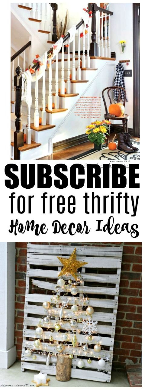 Subscribe to this home decor blog written by a mom in Michigan who decorates their home using thrift store items. She repurposes a lot, too!