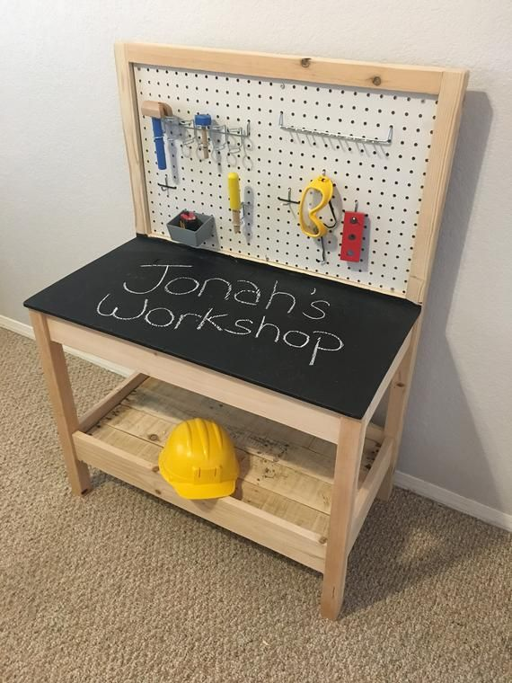 Kid S Wooden Tool Bench Diy Kids Furniture Kids Tool Bench Kids Workbench