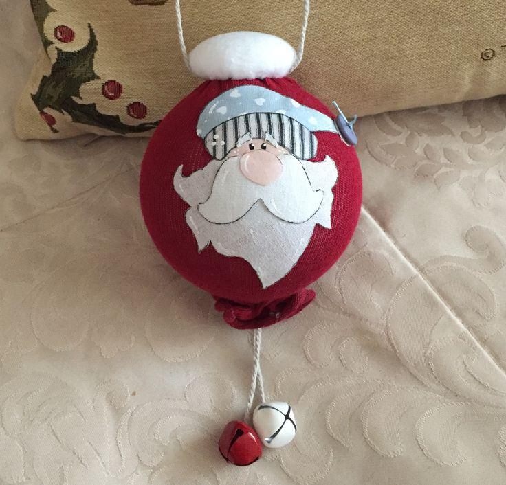 Palla Babbo Natale   (cart. Country Creations di Federica)