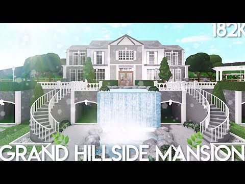 Bloxburg Grand Hillside Mansion Speed Build Youtube