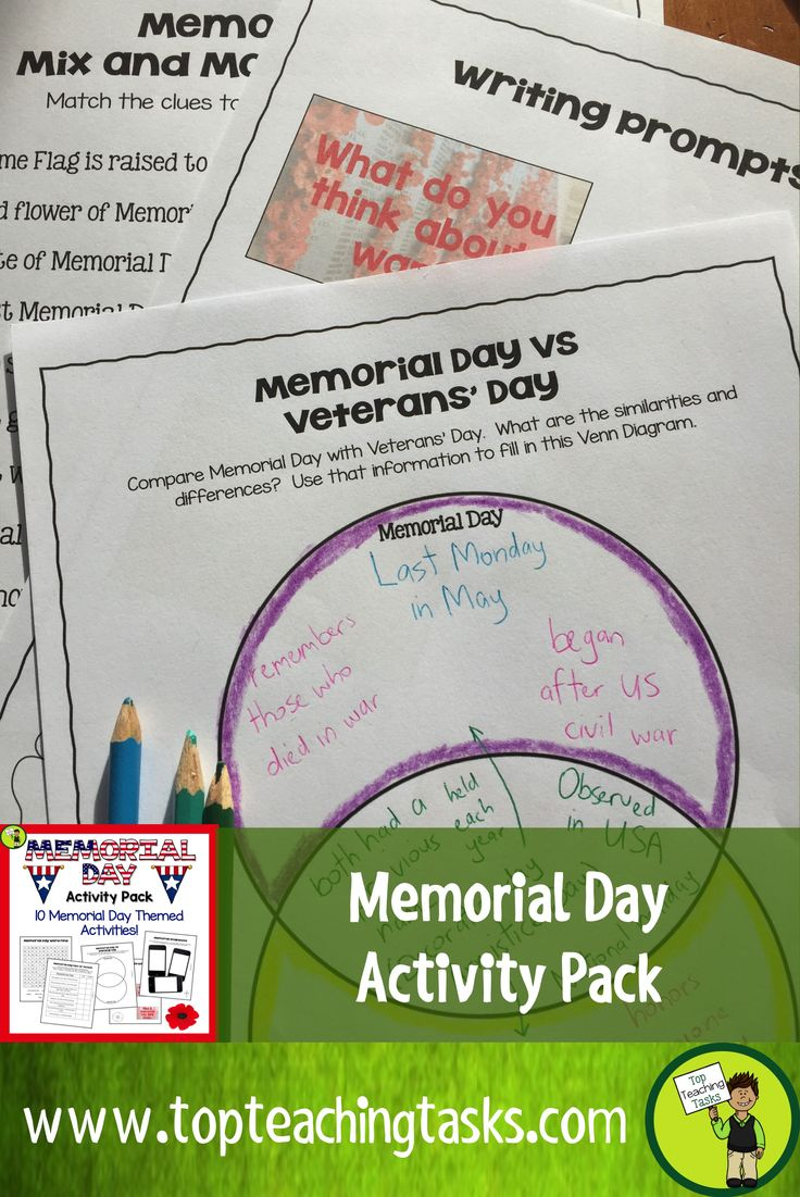 Memorial day poems veterans poems prayers - Let Us Save You Time This Memorial Day With Our Memorial Day Activity Pack This