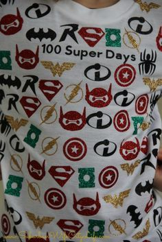 100 Super Days Tshirt for the 100th day of school