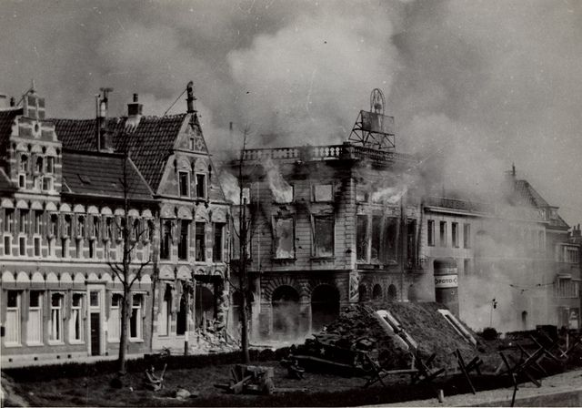 Groningen, Nieuwe Ebbingestraat 1945