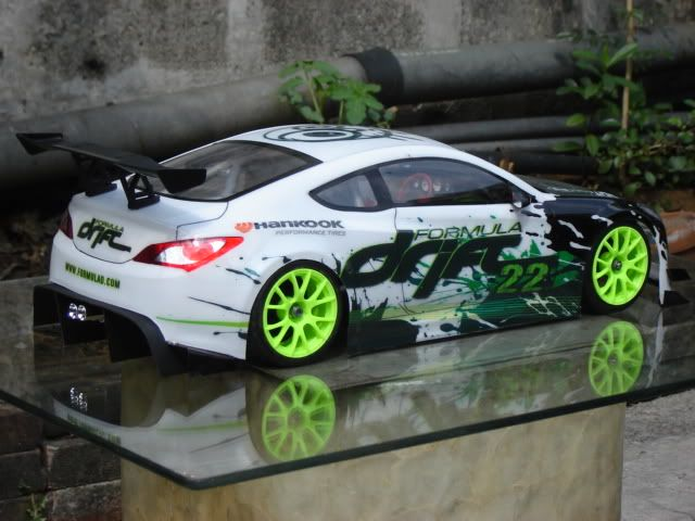 Drift Body: Hyundai Genesis Coupe Rc Body 1/10 scale