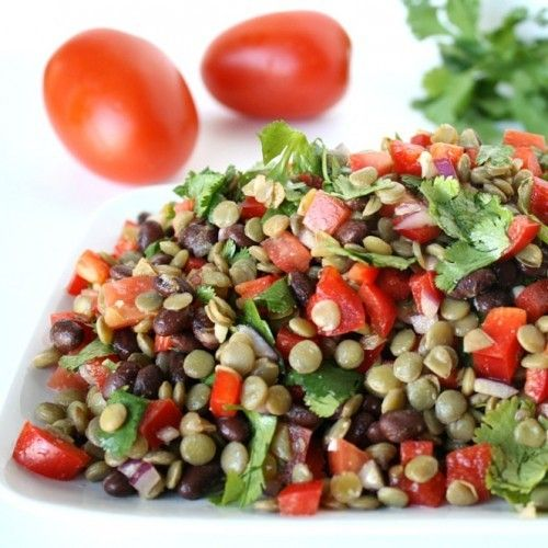 Black Bean Lentil Salad w/ Cilantro HealthyAperture.com