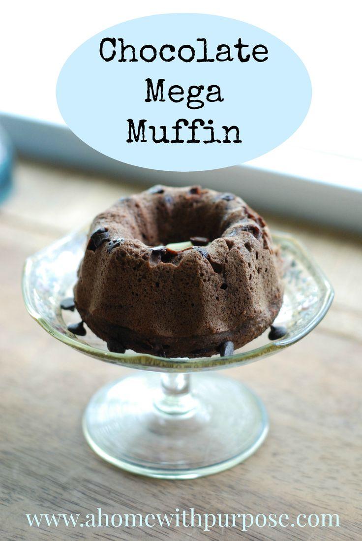 Chocolate Mega Muffin- THM S, Gluten Free