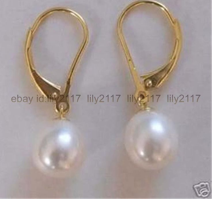 Aaa Pretty! White 8-9Mm Freshwater Cultured Pearl Earring