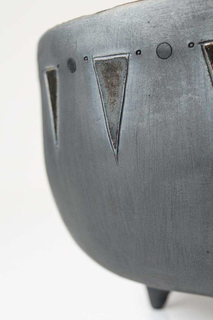 Coppa in ceramica, particolare esterno