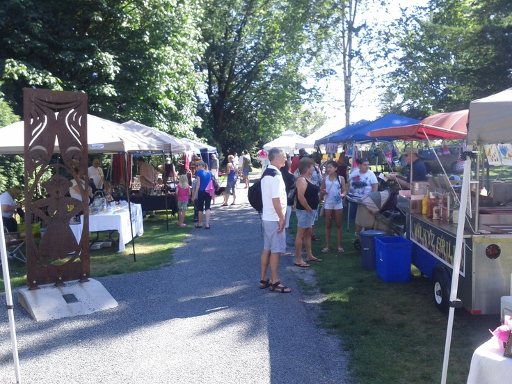 """Fort Langley Farmer's Market which is held just outside the gates of """"The Fort""""."""