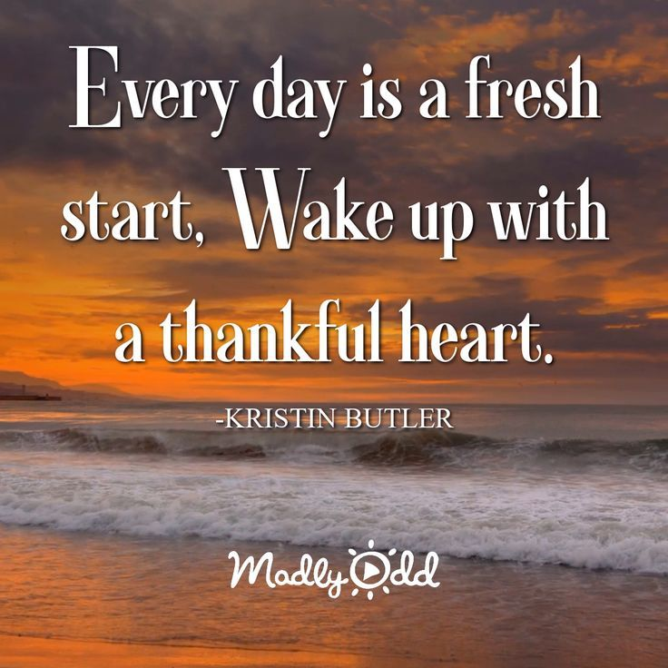 Every Day Is A Fresh Start Wake Up With A Thankful Heart Morning Quotes Morning Inspirational Quotes Morning Quotes Funny Good Morning Inspirational Quotes