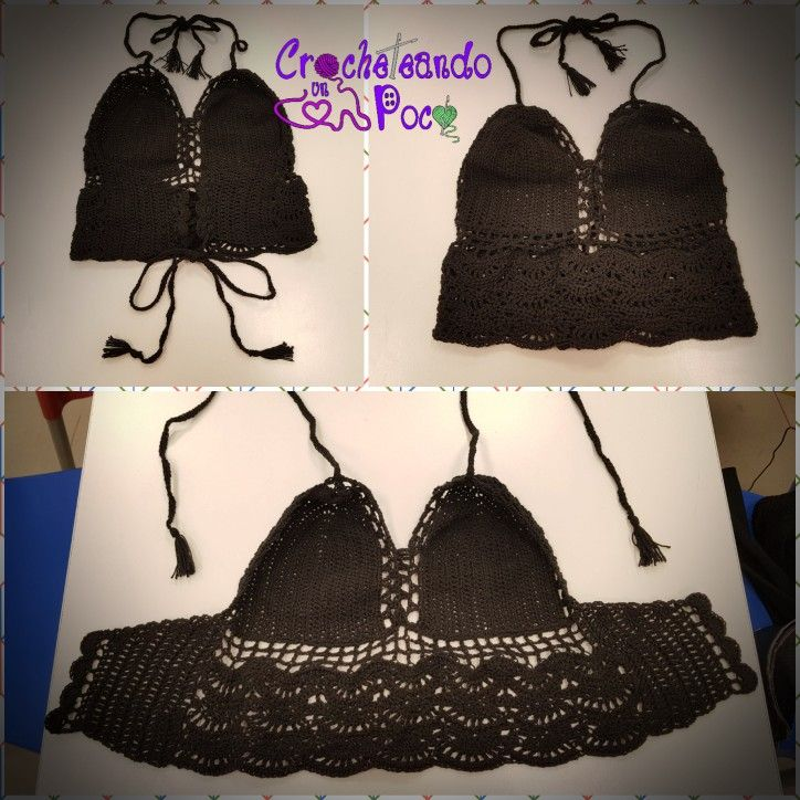 Top tejido a Crochet ajustable - Talle S