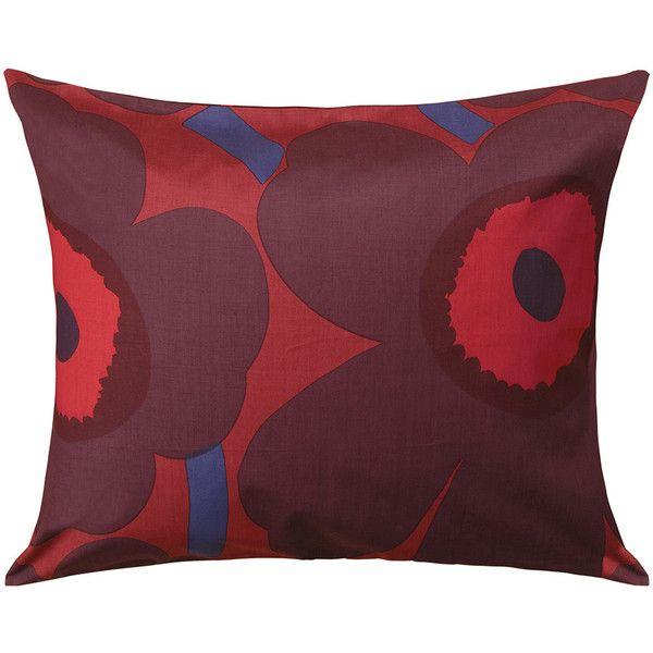 marimekko unikko pillowcase redplum 27 liked on polyvore featuring home