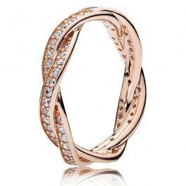 Pandora Rose Twist of Fate Cubic Zirconia Ring 180892CZ