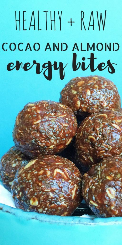 These Energy Bites are full of protein and fiber and are the perfect pre- or post-workout snack, portable pick-me-up, or healthy treat. They're also DELICIOUS! Made with almond butter, coconut oil, raw cocao, flax, chia, and dark chocolate!