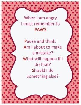 Anger Paws - for a couple of my students