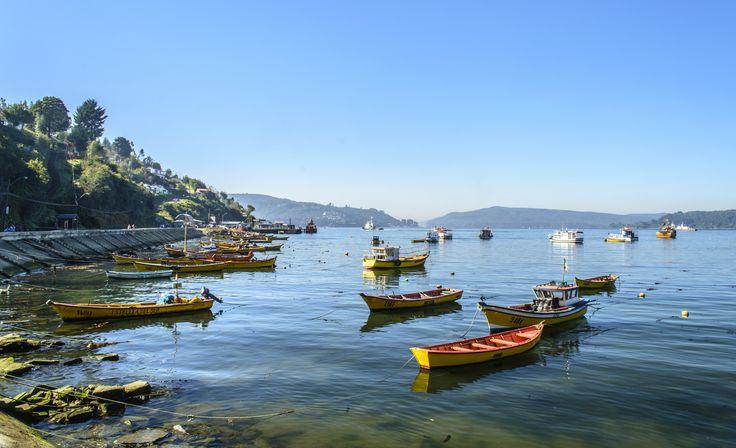 Bahía Corral 02 #boat #botes #landscape #sea