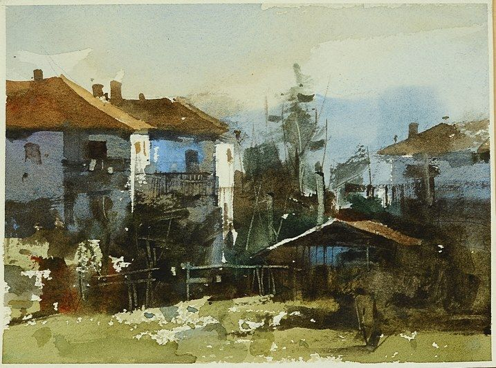 18*13 cm, mini Watercolor in 40 minutes Demo by Chien Chung Wei