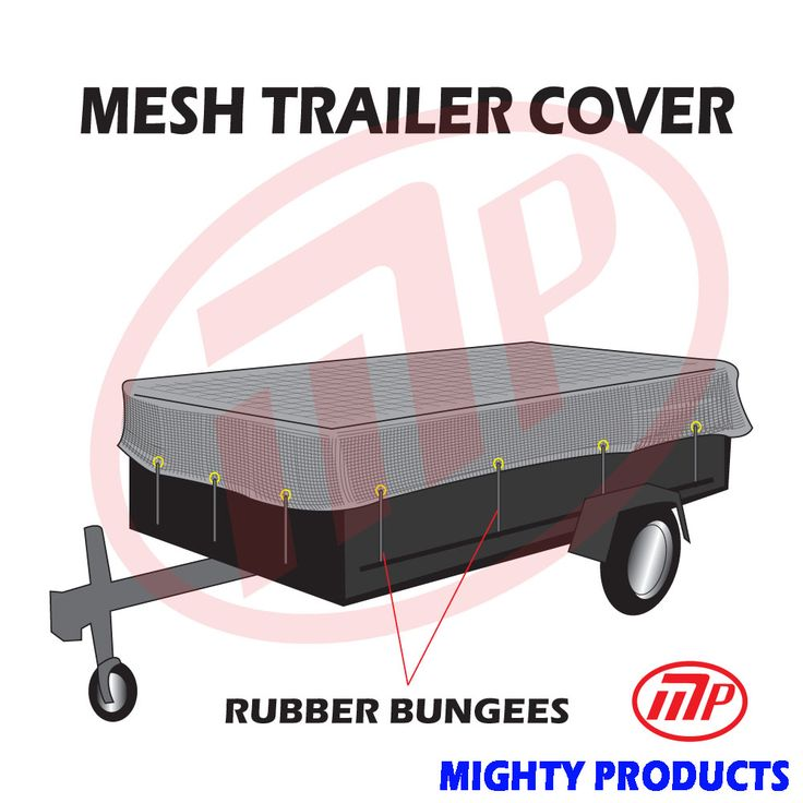 """utility trailer mesh cover with 10 pcs of 9"""" rubber bungee 10x20"""