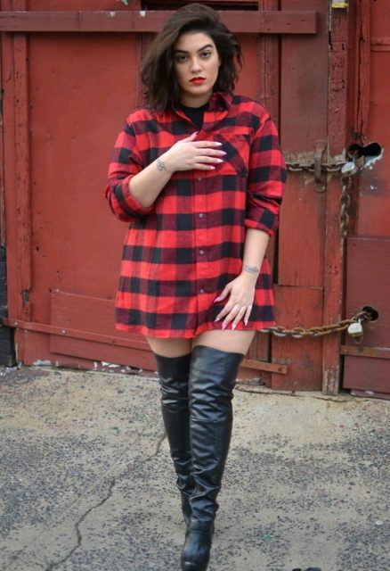 9 best images about Plus Size Thigh High Boots on ...