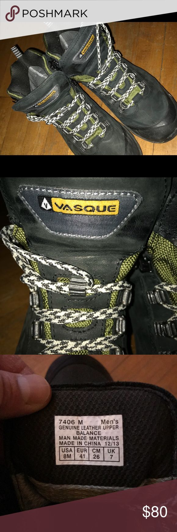 Vasque Hiking Boots Like new condition, worn only once. Beluga blue and green. Vasque Shoes Boots