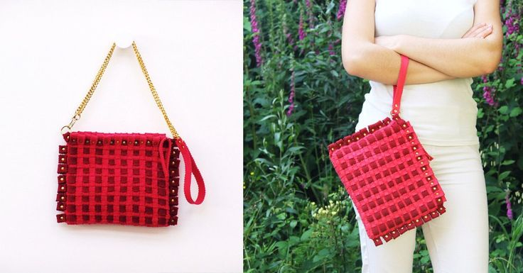 Fashion accessories in felt. For your summer, in the colour pink. Visit our site: feltrando.com