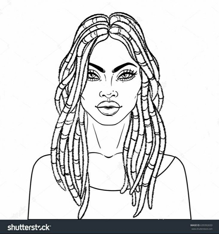 Pin By Priscilla Rich On Coloring Pages African Drawings Black Girl Art African