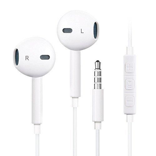 FEIFAN 1 Pack Premium Earphones/Headphones/Earbuds with Stereo Microphone&Remote Control for Apple iPhone 6S/6/6S Plus/6 PlusiPhone SE/5S/5C/5 iPad /iPod Nano 7/iPod Touch (White)F1