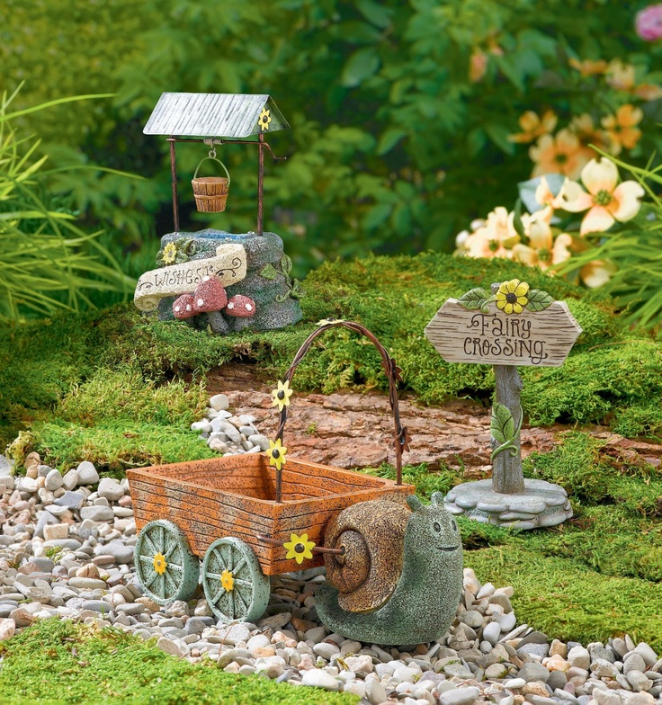 Cute Accessories For The Miniature Garden From Grasslands Road Secret Garden  Collection Adorable Fairy Garden Set Up.